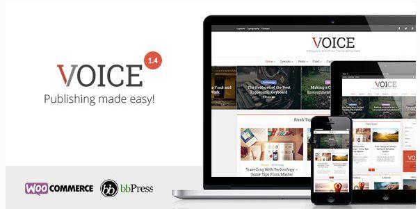 Themeforest – WordPress:  Voice – Clean News/Magazine WordPress Theme on Themeforest Free Download http://themeforestfreedownload.com