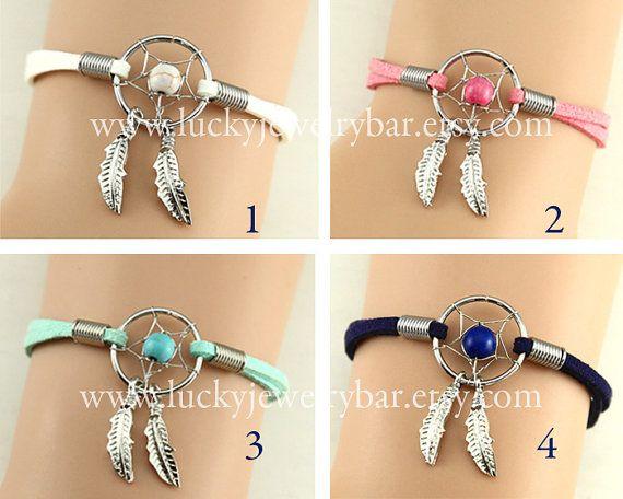 Dream catcherDream catcher bracelet Feather by LuckyJewelryBar