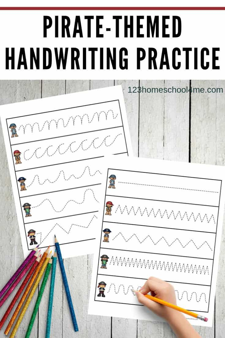 Pirate Handwriting Printable In 2020 With Images Pirate Theme