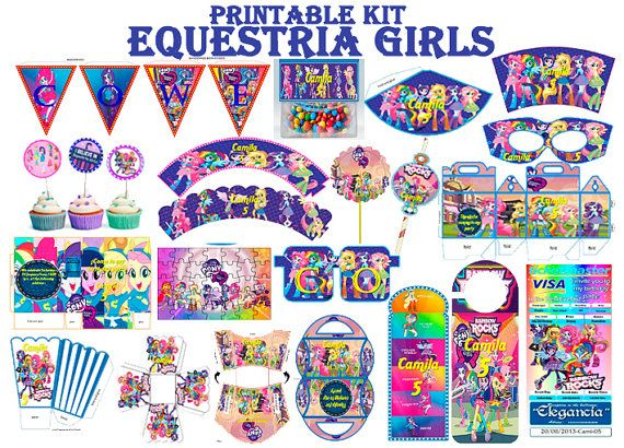 Printable and editable kit My little pony por NovedadesAhastari