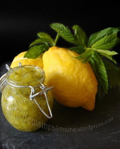 Zucchini, ginger & lemon jam