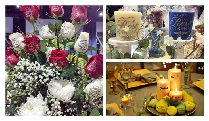 Personalize with elegance your events with Speaking Roses. ( photos by Speaking Roses Blossoms)