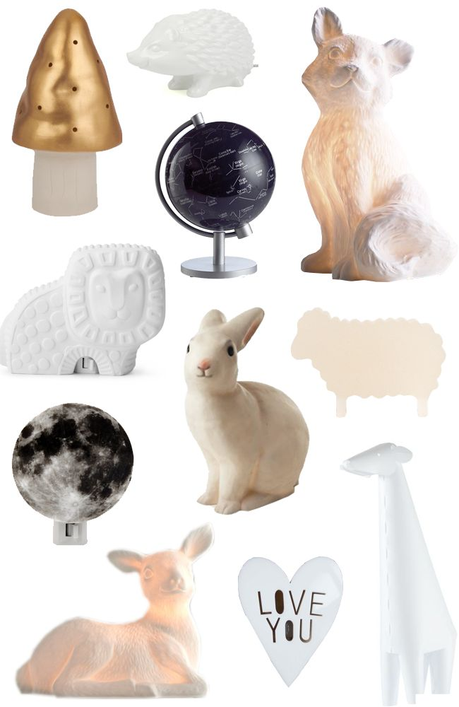 11 night lights for a baby nursery.