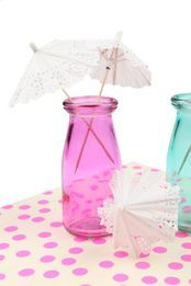party umbrellas, WHITE DOILIE
