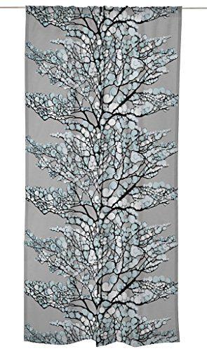 Vallila 140 x 240 cm 83 Percent Cotton/17 Percent Polyester Lumi Curtain Panel, Aqua Blue by Vallila Interior