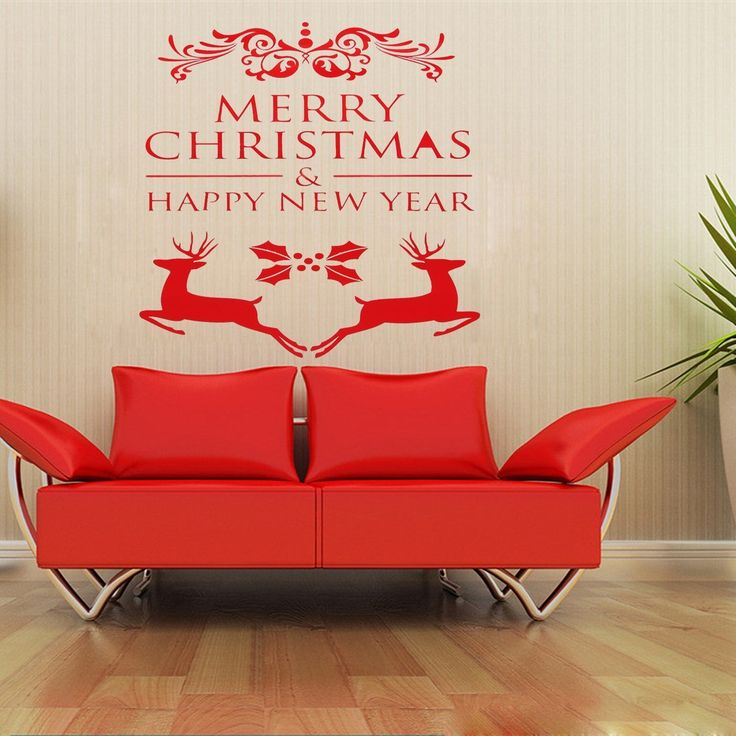 Best Christmas New Year And Holiday Window And Wall Decals - Christmas wall decals removable