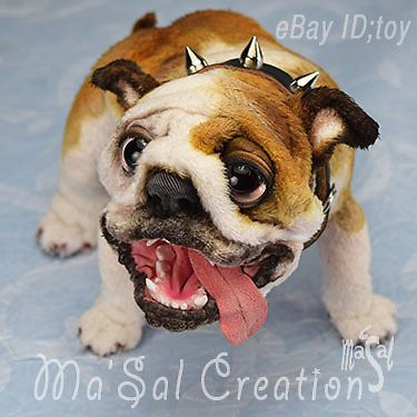 Can. Not. Breathe. Aaaaah!!! Ma'Sal original / Special Dolly Doggy posable Bull dog /  Direct from the Artist #AllOccasion