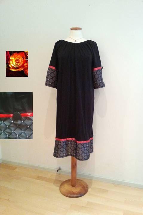 Black tunic dress sale black and grey dress short by WalinaWebshop