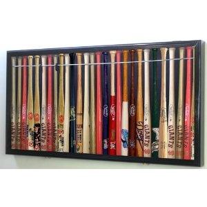 "Mini 18"" MLB Baseball Display Case Cabinet Holders Rack w/ UV Protection"