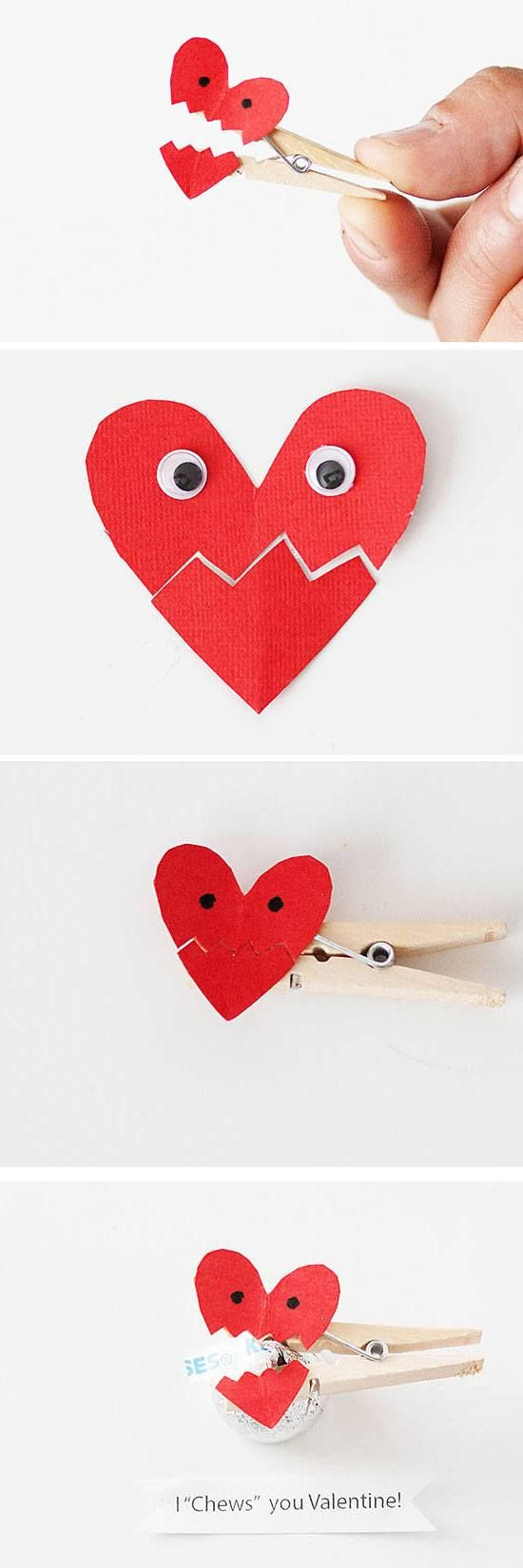 25714ba694d86b91d7d855cb153fcc98 valentine crafts for kids valentines day activities - I Chews You Valentine | DIY Valentines Crafts for Kids to Make | Easy Valentines...