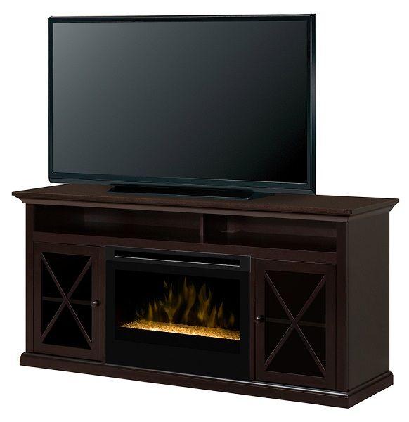 "Dimplex Newman electric fireplace media cabinet with 25"" firebox; $869 cdn."