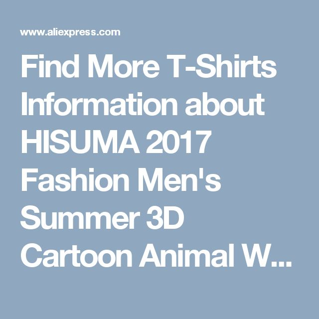 Find More T-Shirts Information about HISUMA 2017 Fashion Men's Summer 3D Cartoon Animal Wolf Printed T shirt Funny Euro S 2XL Blue Eyes Cotton Short Sleeve Tops Tees,High Quality tee shirts for babies,China t-shirts needed Suppliers, Cheap tee heart from hellosuma Store on Aliexpress.com