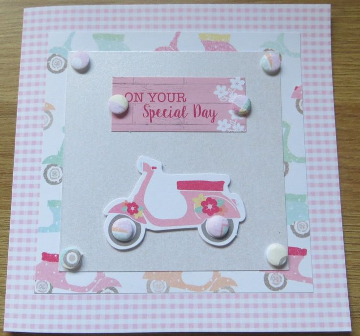 ladies scooter birthday card