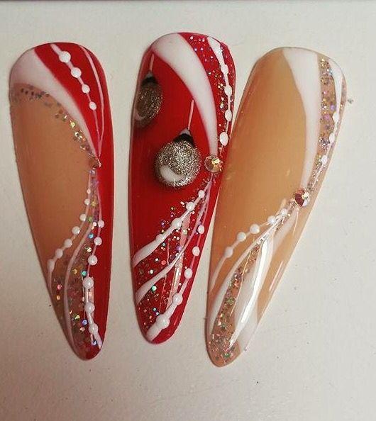 @pelikh_Christmas nail art