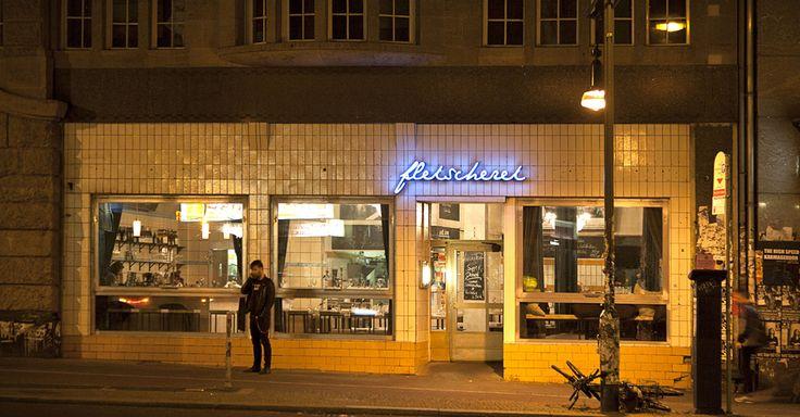 Fleischerei, trendy restaurant waar ze  bijna alleen maar vlees hebben. | Schönhauser Allee 8 – Mitte. fleischerei-berlin.com