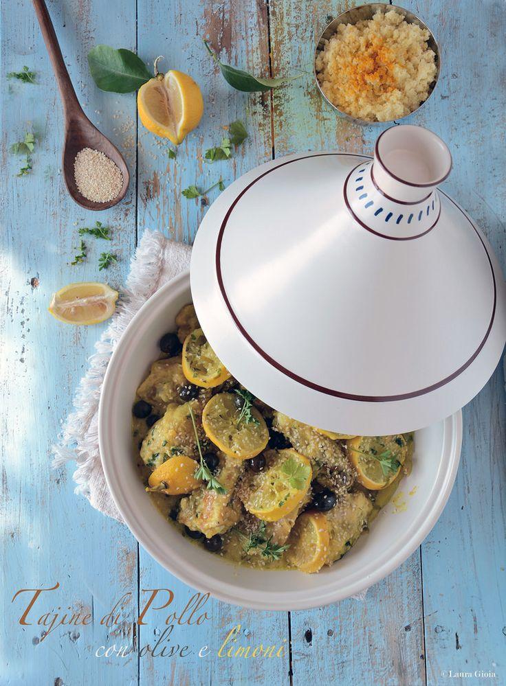 Essenza di Vaniglia: Tajine di pollo con olive nere e limoni canditi
