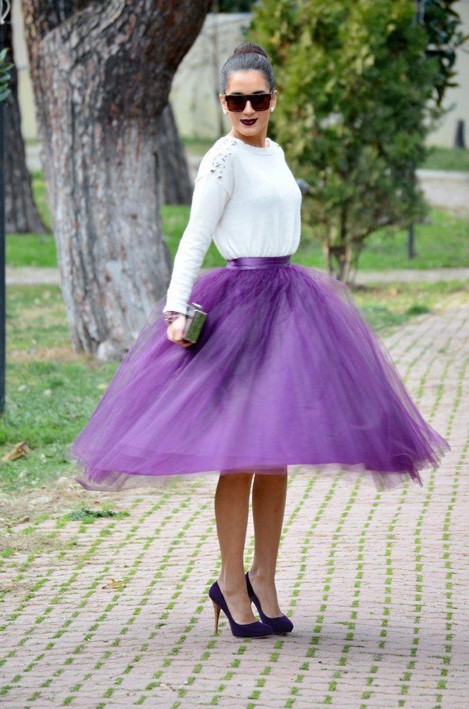 Mauve Tulle Skirt