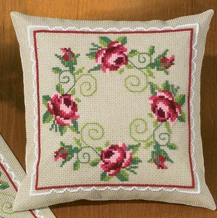 Roses Pillow - Cross Stitch Kit