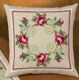 Roses Pillow - Cross Stitch Kit