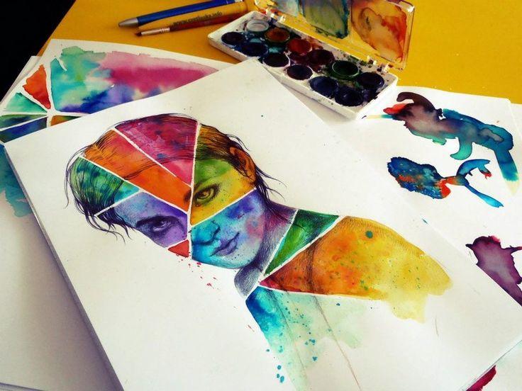 #ElementEdenArtSearch #illustration #muse #portrait #watercolor