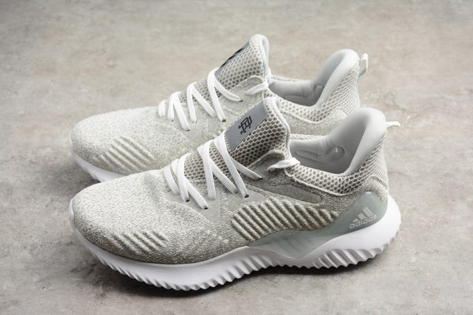 release date: be38a 002ac Reigning Champ x adidas Alphabounce Beyond White Grey Mens Running Shoes-1