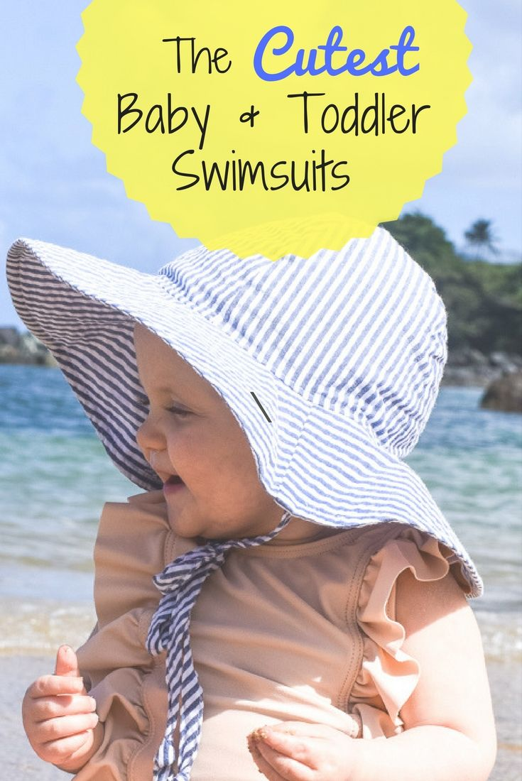 Cute baby girl swim suits // baby boy swimwear // toddler swimwear // baby bikini // adorable swimsuits for babies // swimsuit ideas for babies and toddlers // euro trunks for toddlers //