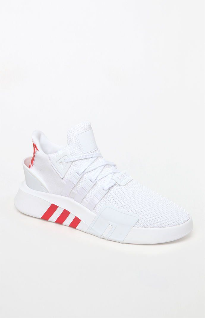 best loved 83d27 37376 EQT Basketball ADV White  Red Shoes