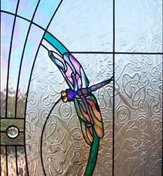 Dragonfly stained glass door #MyMagnificentObsessions