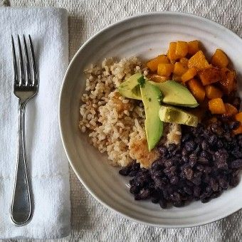 5 Minute Black Beans and Squash with Avocado>>Blue Zones Recipe Nicoya, Costa Rica