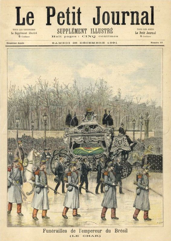 Le Petit Journal – Funerailles de l'empereur du Bresil Dom Pedro II