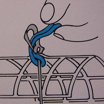 Stap voor stap de smyrna knoop - Hobby.blogo.nl