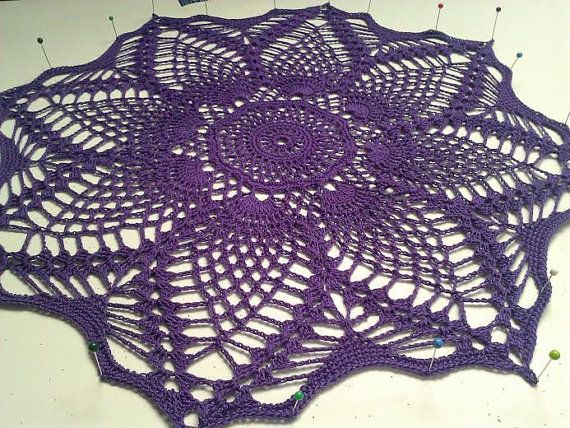 Purple or Turquoise https://www.etsy.com/listing/177485253/crochet-pineapple-doily-purple-turquoise