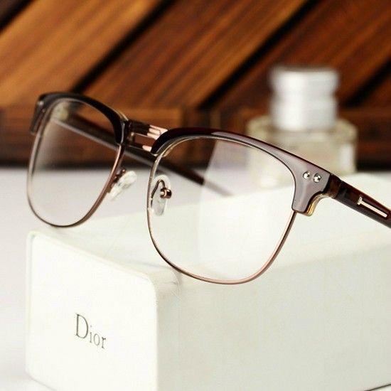 semi rimless glasses mens gold black - Google Search