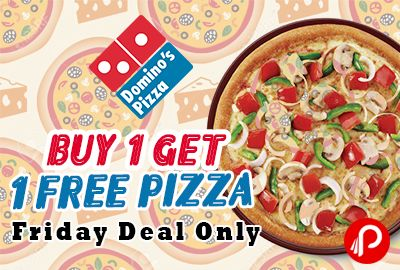 Domino's Pizza #offers #Buy1Get1Free #Pizza, BOGO Friday Offer + Get more 25% #discount using #PayuMoney (max.Cashback Rs.50). Friday Only Deal. Coupon Code: MOB06 . http://www.paisebachaoindia.com/buy-1-get-1-free-pizza-bogo-friday-offer-dominos-pizza/