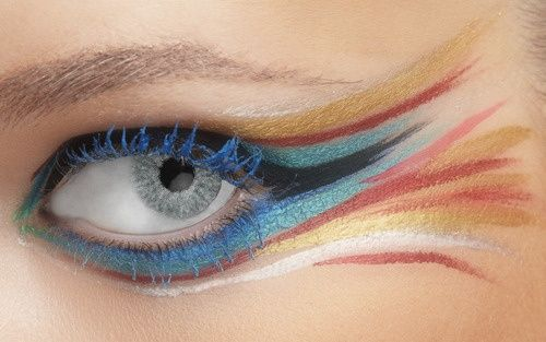 colorful fish eye makeup