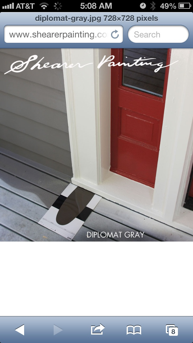 Painted Porch...like This Combo For Deck