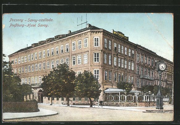 alte AK Preßburg, Hotel Savoy 1912