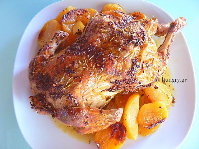 Ψητό Κοτόπουλο με Δεντρολίβανο