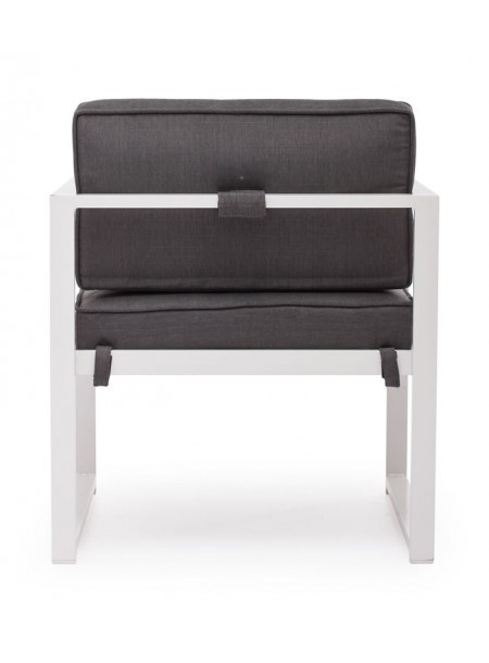 Zuo Modern Golden Beach Armchair Gray: Framed Chair, Low Profile Cushion  (back View