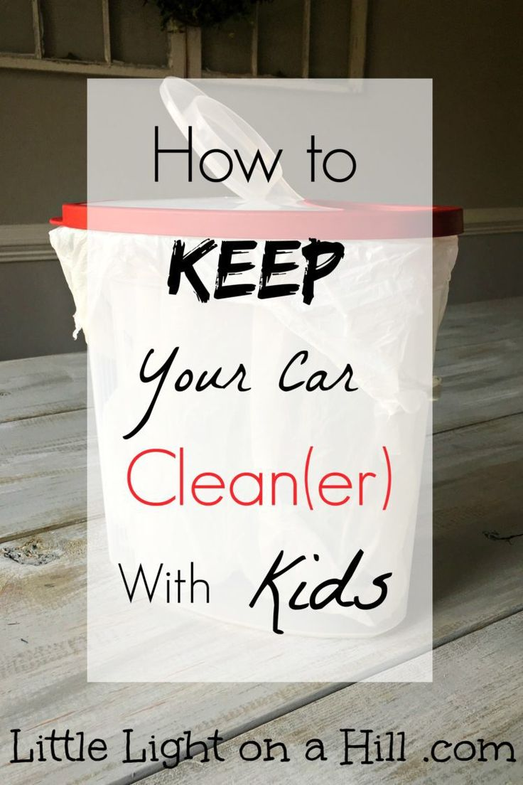 Cleaning my car is one of my least favorite chores, and having kids doesn't help. Here is the number one tip to keep my car clean with kids!