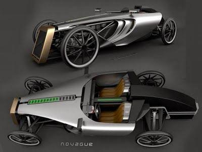 Carro retrô com tecnologia moderna. Desiner Petr Novague