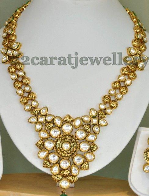 Jewellery Designs: Imitation Kundan Fancy Set