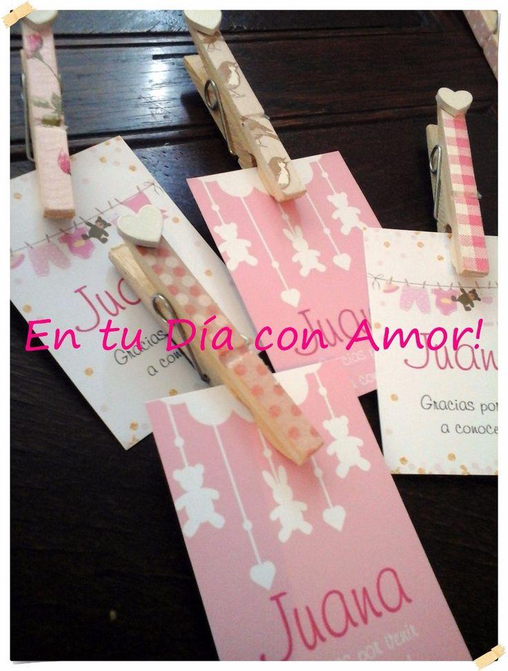 (1) Deco Broche Imán + Tarjeta Nacimiento Baby Shower Cumpleaños - $ 16,99 en MercadoLibre