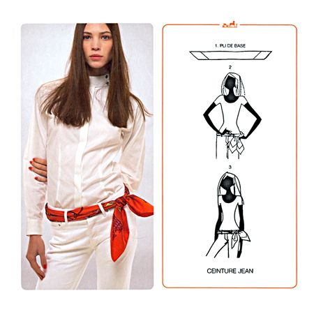 How To Tie A Scarf - Hermès Scarf Knotting Cards Vol.1 - CEINTURE JEAN