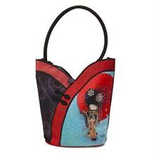 Sac Ketto Asiatique - Geisha /   Ketto's Asian bag  - Geisha * Fabriqué à 80% de bouteilles de plastique recyclées / Made of 80% of recycled plastic bottles * www.kettodesign.com
