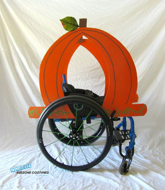 Pumpkin Carriage Costume Kit for Wheelchair by byCassieMcLelland