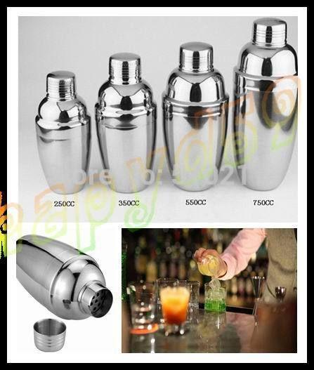4pcs/set 250ml 350ml 550ml 750ml stainless steel Cocktail Martini shaker mixer set bar party bartender kit wine Drink shaker