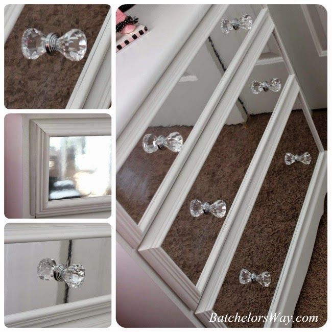 Cool project on making a glam dresser at Batchelor's Way featuring some of our acrylic knobs!