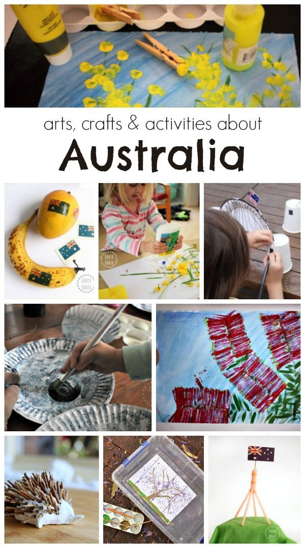 arts, crafts & activities about Australia