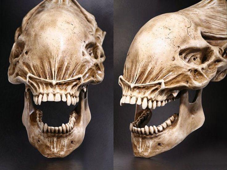 Alien skull cast